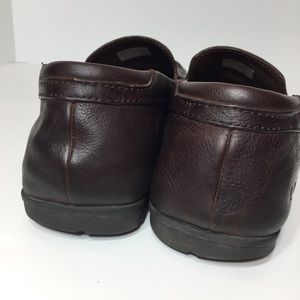 UGG Shoes - UGG Brown Leather Slip On Loafers Size 13